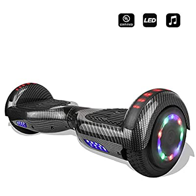 "CHO 6.5"" inch Wheels Electric Smart Self Balancing Scooter Hoverboard with Speaker LED Light - UL2272 Certified"